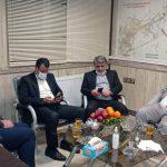 بازدید ریاست محترم شورای اسلامی وشهردار محترم  از سازمان در شب چهارشنبه آخر سال