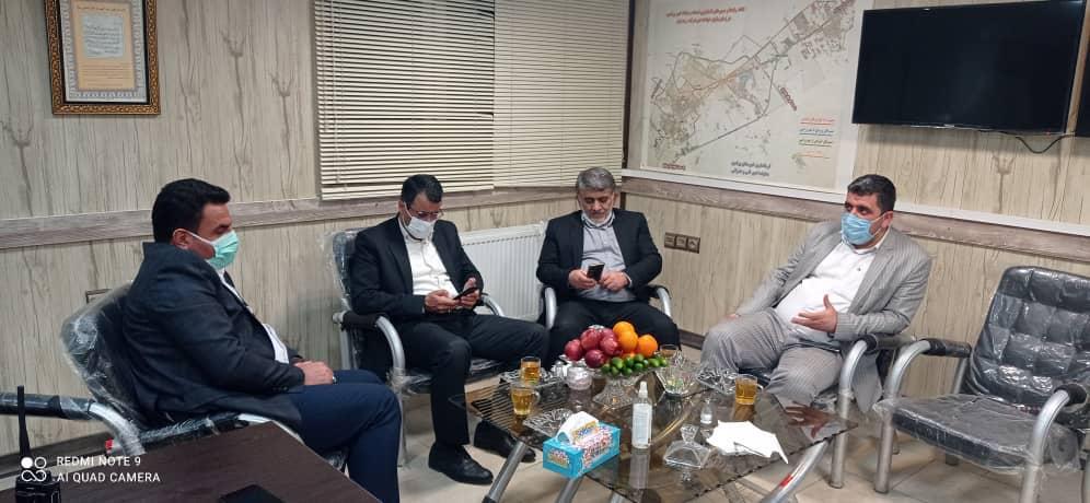 بازدید شورا و شهردار در چهارشنبه سوری